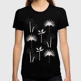 Palm Trees - Neutral Black & White T-shirt