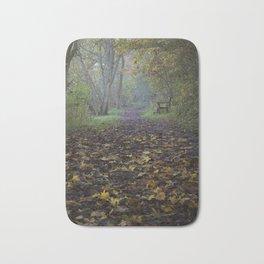 autumn path Bath Mat