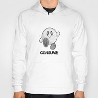 kirby Hoodies featuring Kirby Consume by Jose Quiroz