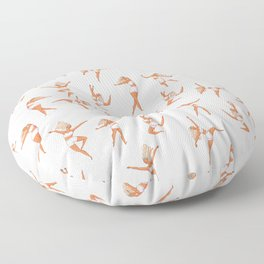 Dance Girl Pattern 002 Floor Pillow