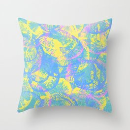 Abstract Jellyfish Visual Decorative Graphic Design V.6 Throw Pillow