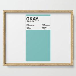 Okay. - Colour Card Serving Tray