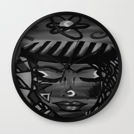Focus by Lu, black-and-white Wall Clock