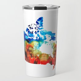 Canada - Canadian Map By Sharon Cummings Travel Mug