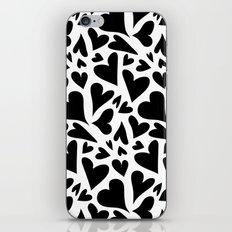 black hearts iPhone & iPod Skin