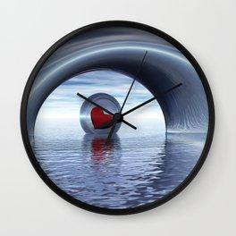 Herz auf Reisen Wall Clock