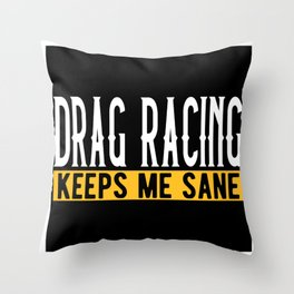 Drag Racing Lovers Gift Idea Design Motif Throw Pillow