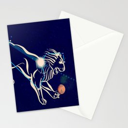 Leo in the night sky Stationery Cards