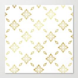 Golden Thai Pattern Canvas Print