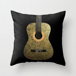 Black Gold Throw Pillow