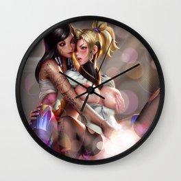 OW - Pharah & Mercy Wall Clock