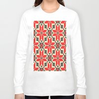 ukraine Long Sleeve T-shirts featuring Folk Ukraine  by florenceK
