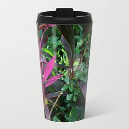 Tropical Plants  Metal Travel Mug