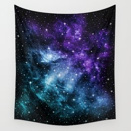 Purple Teal Galaxy Nebula Dream #1 #decor #art #society6 Wall Tapestry