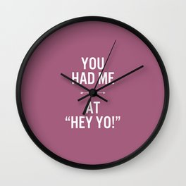 Hey yo! Wall Clock