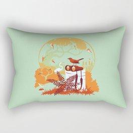 Birdwatcher (reds) Rectangular Pillow