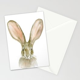 Jack Rabbit Watercolor Stationery Cards
