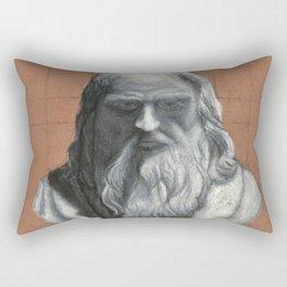 Leonardo Da Vinci Bust Portrait Rectangular Pillow