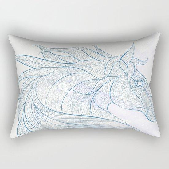 Ethnic Horse Rectangular Pillow