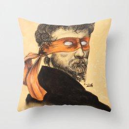 Mikey TMNT Throw Pillow