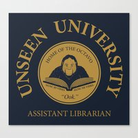 discworld Canvas Prints featuring Assistant Librarian by vonplatypus