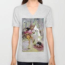 """""""Rumpelstiltskin"""" Fairy Art by Anne Anderson Unisex V-Neck"""