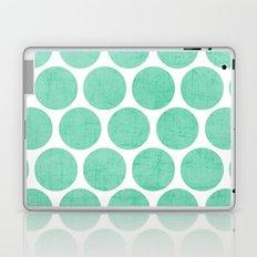 mint polka dots Laptop & iPad Skin