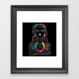 Girl-candy Framed Art Print