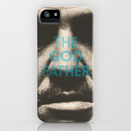 The Godfather, minimalist movie poster, Marlon Brando, Al Pacino, Francis Ford Coppola gangster film iPhone Case
