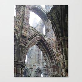 Whitby Abbey in Fog #2 Canvas Print