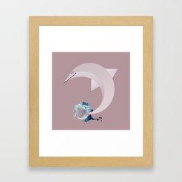 Animaligon - Dolphin Framed Art Print