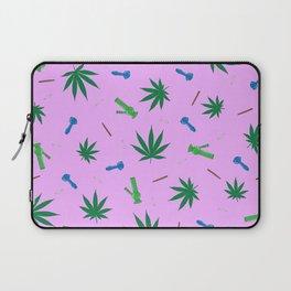 Weed Leaf, Bongs, Pipes, Joint, Blunts Pattern Laptop Sleeve