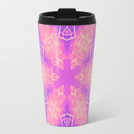 Alien pink snowflake Travel Mug