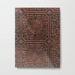 Antique Copper  Ceiling Tile - Print of original art Metal Print