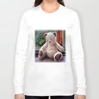 teddy bear Long Sleeve T-shirts featuring Teddy Bear  by Fran Walding