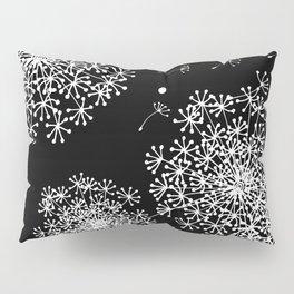 DANDELION SNOWFLAKE BLACK Pillow Sham