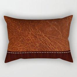 Brown leather look #2 Rectangular Pillow
