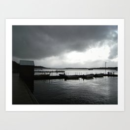 Whalewatching town Art Print