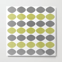 Mid-Century Modern Abstract Ovals Metal Print