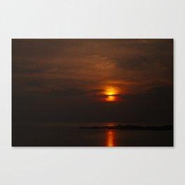 Red Sky, Koh Phangan Canvas Print