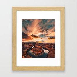 horse shoe bend canyon Framed Art Print