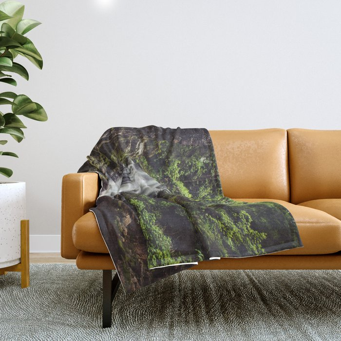 Wild Water - Landscape and Nature Photography Throw Blanket