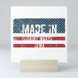 Made in Saint Marys, Iowa Mini Art Print