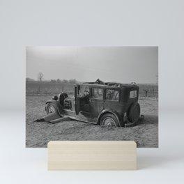 Vintage Automobile After A Flood - Indiana - 1937 Mini Art Print