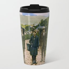 1900 Mosel wine harvest Schengen Luxembourg Travel Mug