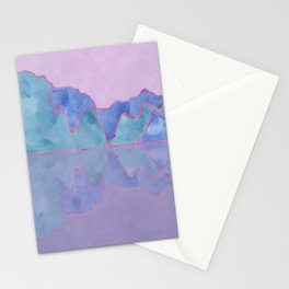 Mountain Reflection in Water - Pastel Palette Stationery Cards