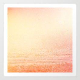 Modern abstract orange summer ombre pattern Art Print