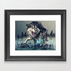 Sif, the Great Grey Wolf Framed Art Print