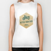 moto Biker Tanks featuring moto guzzi by Liviu Antonescu