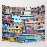 tetris Wall Tapestries featuring Venezuelan Tetris by MarcelPages